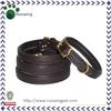Brown Leather Illuminate Dog Collar Wholesale
