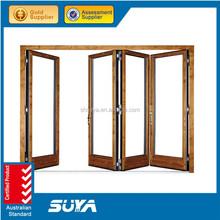 Powder coated aluminum powder coated glass aluminum folding door