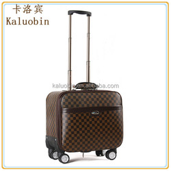 hot selling cabin size business men pu material us polo luggage