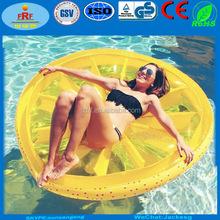 Inflatable Lemon Slice Float, Inflatable Lemon Fruit Slice Island Raft