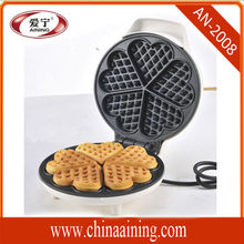 5pcs Cute Heart Shape Waffle Maker 850W Perfect for Cooking with BS Plug