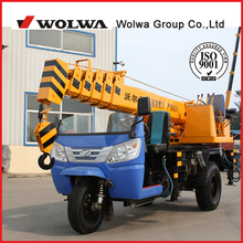 world sold 3T tricycle truck crane with CE certification