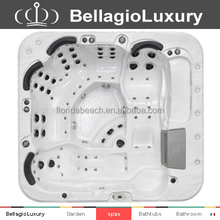 new design balboa control hot tub, luxury outdoor massage bathtub, best outdoor spa for 6 person