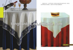 100% polyester round table cloth for meeting sage