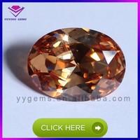 Synthetic Nanocrystal Morganite color Oval shape brilliant cut gemstone