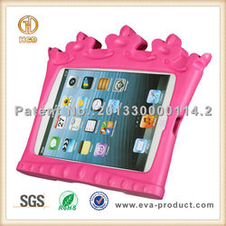 kids friendly eva foam tablet cover for ipad 2 mini case with kickstand