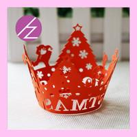 Free Design Christmas Snow Tree Wedding Cupcake Wrapper DG-25