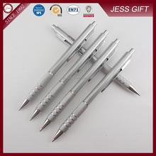 Classic ballpoint pen click ballpen with engraver silver pen