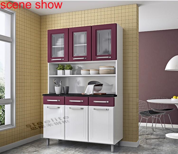 De metal 3 porta enforcamento vermelho arm rio de cozinha for Kitchen cabinets jeddah