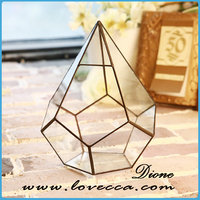 Hot selling wholesale indoor plant glass terrarium clear glass geometrical hanging terrarium- glass globe hanging terrarium