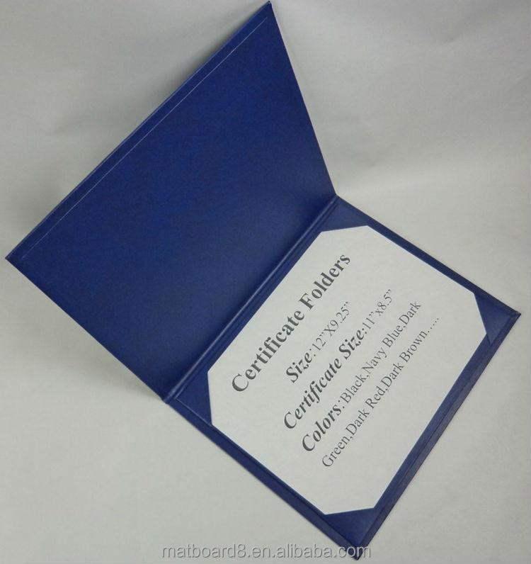 2015 Custom Black Leather Certificate Folios\\holders\\folders Diploma ...
