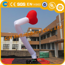 Hot inflatable advertising red heart air dancer, heart inflatable sky dancer , promotional inflatable air dancer with blower