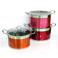 Stainless Steel Indian porcelain enamel cookware sets