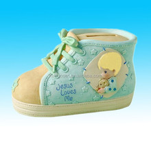 personalized ceramic shoe bank for money and coin