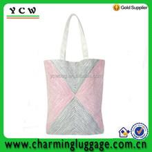 simple design girl's shoulder bag with red and black stripe