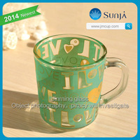 Personalized European Cafe Glass Goblet insulated Coffee Stemware Thick Short Stemmed Coffee Glass Cup