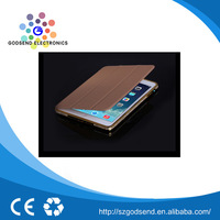 Factory price Newest golden wallet leather case for ipad