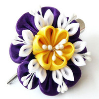 hot sale make fabric flower brooch