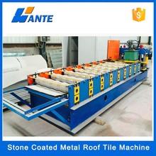 De haute qualité en aluminium plaque de zinc pierre colorée tuile métallique revêtue machines, Double romaine prix de tuiles