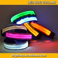 100pc Crystal lattice 7 Colors Adjustable LED Dog Collar Glow Flashing Light Up Pet Necklace Luminous Safety Collar DC-2505