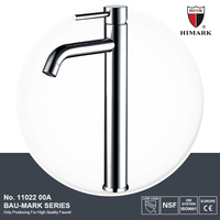 Contemporary design chrome brass long spout basin faucets