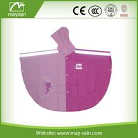 logo safety pvc rain poncho for girls