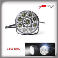 9 LED Round Daytime Driving Running Light DRL Car Fog Lamp Headlight White