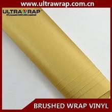 Ultrawrap 1.52x30 meter bubble free gold brushed metal car wrap vinyl