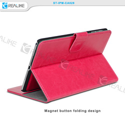 2015 new design stand closure pu leather removable case for ipad mini 3