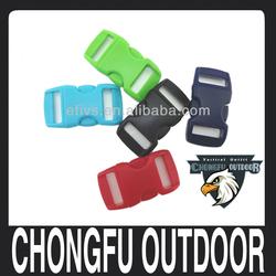 3/8 side release curved plastic buckle for paracord bracelet