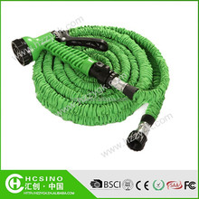 2015 Hotest products in Chinese marketing 3 times expanding garden water hose with free spray nozzle