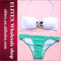 2014 Wholesale padded macrame hot sexy brazil flag bikini