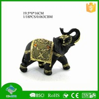 Indoor beautiful table elephant model resin animal statues