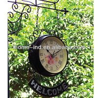 Antique hanging outdoor double side clock