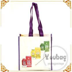 Wholesale reusable Color Laminated PP Non Woven Shopping Bag
