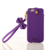 PU carrying phone bag with bowknot strap for iphone 6s