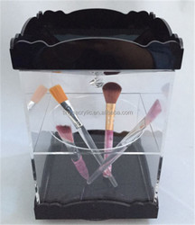 Hot Design Rotating Acrylic Make Up Brush Holder with Handle Cover