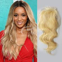 virgin European hair top lace closure blonde 613# 3.5X4inch,4X4inch,5X5inch closure sale