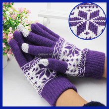 New products 2015 China Suppliers wholesale gift gloves christmas decorative snowman glove