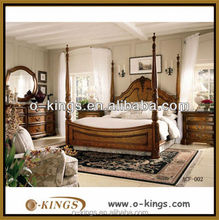 solid wood bed/hotel bedroom furniture/solid wood hotel bed