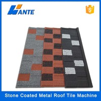 Trade Assurance press steel stone chip coated roofing tiles manufacturing machinery/tile machine