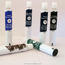 recyclable oil color painting packaging aluminum tube