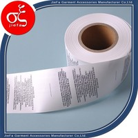 Wholesale cheap price roll polyster printed washable care label