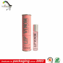 eco friendly lip gloss packaging paper tube customized supplier