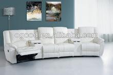 2014 modern recliner white sofa OS012-4