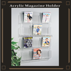 Wall Mounted Acrylic Magazine Holder