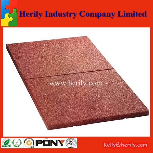 Safety Surface Anti Slip Floor Rubber Tiles Outdoor Patio