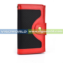 Vigoworld bel air brass button vintage wallet case for iPhone 6 with cash pocket