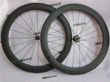 2015 DSBIKE Top Quality 700C 88mm Depth Powerway straight pull hub bicycle tubular wheels, 23mm width road track bike wheelset