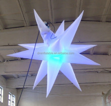 newstyle fashion party decoration inflatable stars with LED light